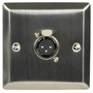 Steel AV Wallplate with XLR socket