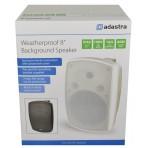 """Adastra BHV Series IP44 Background Speaker 8"""" driver, 100V, White"""