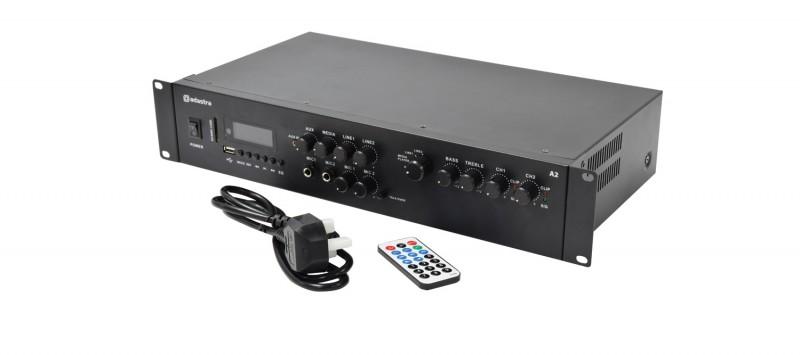 Adastra A2 Stereo PA Amplifier 2 x 200W USB-SD Bluetooth, FM