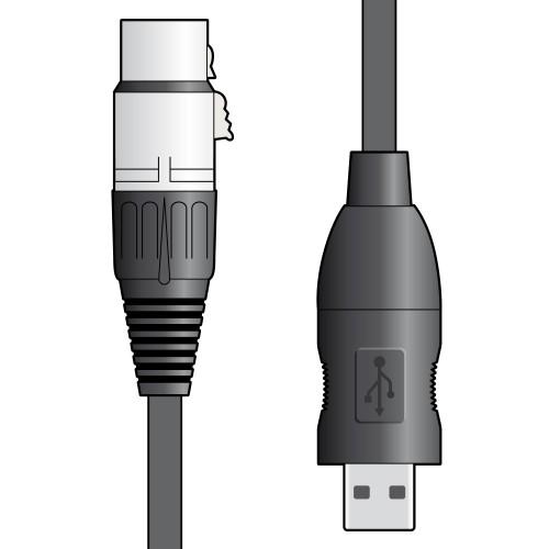 Chord XLR to USB Convertor Lead