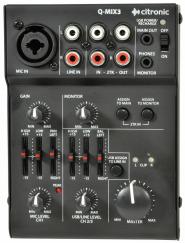 Citronic Q-Mix 3 Compact DJ Mixer