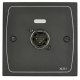 Cloud XLR-M1B Female Wall Plate in Black