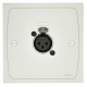 Cloud XLR-F1 Female Wall Plate in White