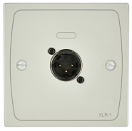 Cloud XLR-M1W Female Wall Plate in White