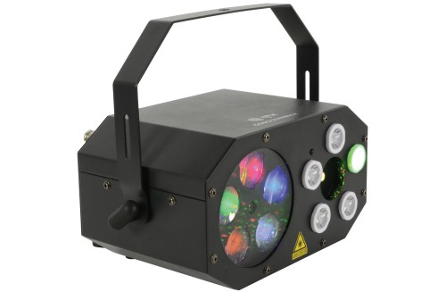 QTX GOBO Starwash 3 effects in 1 Effect Light