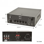 QTX Digital Stereo Amplifier 2 x  55 Watts
