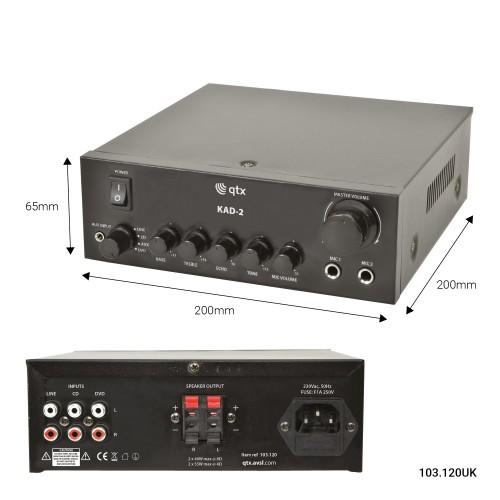 QTX Digital Stereo Amplifier 2 x  55 Watts