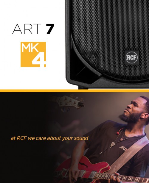 RCF ART 715-A MK4 Speaker BUNDLE Inc RCF COVERS and XLR Leads (PAIR)