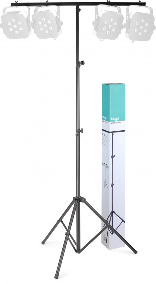 Stagg Height adjustable light stand with folding legs