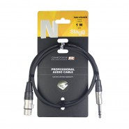 Stagg NAC1PSXFR TRS 6.3mm Jack to Female XLR Plug 1m 3FT