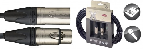 Stagg 1M 3FT X-Series Professional Microphone Cable - With genuine Neutrik connectors