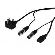 W Audio 10m Combi XLR/Power Cable