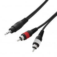 W Audio 1.5m 3.5mm Jack - 2 x Phono Cable